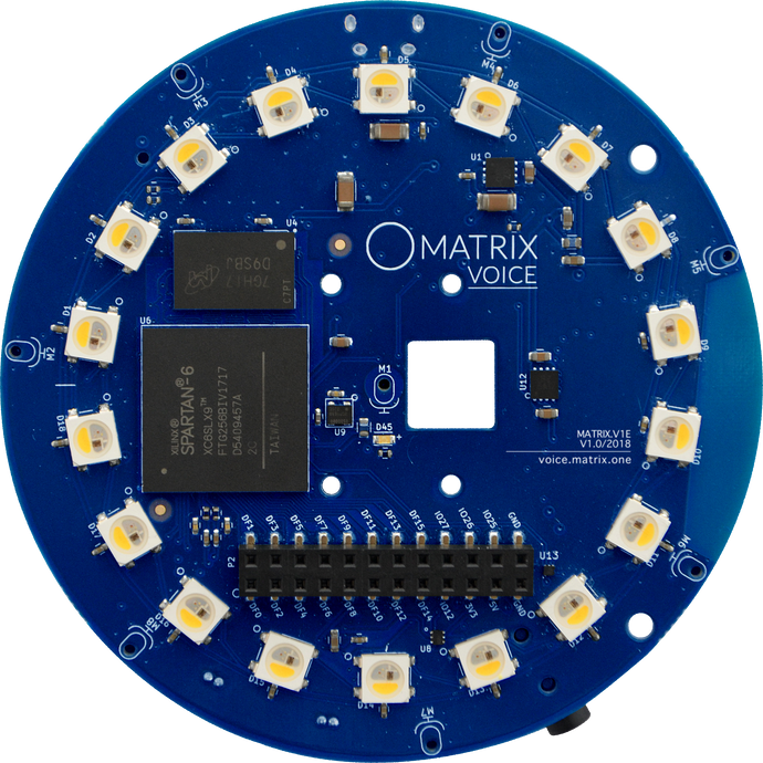 MATRIX Voice ESP32 Front
