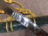 1095 Steel Clay Tempered?battle ready Hand Made sharp Chinese Tang Sword Full Tang