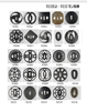 Tsuba Wall Display Home Decoration 10 PCS TSUBA+WOODEN BOX