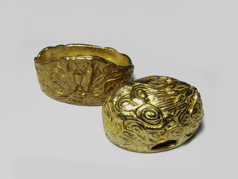 FK135 BRASS DRAGON CLOUD FUCHI KASHIRA