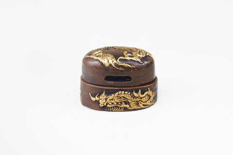 FK148 SWIMMING DRAGON FUCHI KASHIRA
