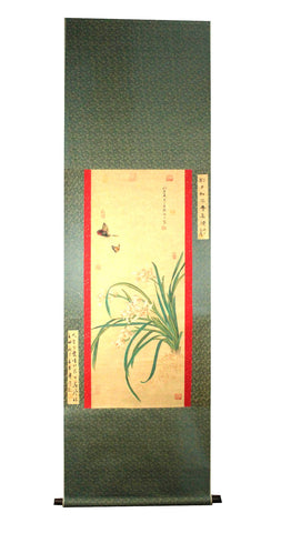 GA002 100% HAND PAINTED FLOWER BIRD CHINESE TRADITIONAL  INK SCROLL PAINTING