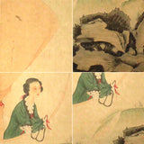 GA003 100% HAND PAINTED FIGURE CHINESE TRADITIONAL INK SCROLL PAINTING