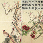 GA005 100% HAND PAINTED FLOWERR BIRD CHINESE TRADITIONAL INK SCROLL PAINTING