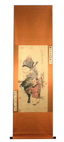 GA007 100% HAND PAINTED FIGURE CHINESE TRADITIONAL INK SCROLL PAINTING