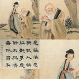 GA008 100% HAND PAINTED FIGURE CHINESE TRADITIONAL INK SCROLL PAINTING