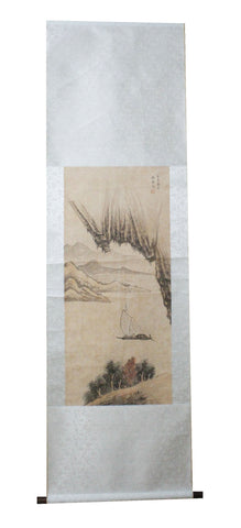 GA013 100% HAND PAINTED LANDSCAPE CHINESE INK SCROLL PAINTING