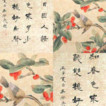 GA014 100% HAND PAINTED CALLIGRAPHY FLOWER WORDS CHINESETRA INK SCROLL PAINTING