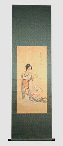 GA015 100% HAND PAINTED FIGURE CHINESE TRADITIONAL INK SCROLL PAINTING