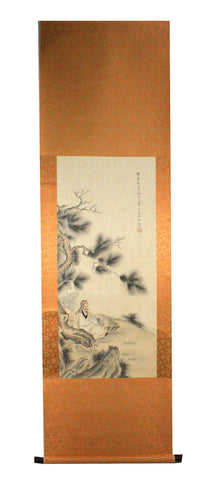 GA018 100% HAND PAINTED FIGURE CHINESE TRADITIONAL INK SCROLL PAINTING