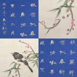 GA019 100% HAND PAINTED FLOWER CALLIGRAPHY CHINESE  INK SCROLL PAINTING