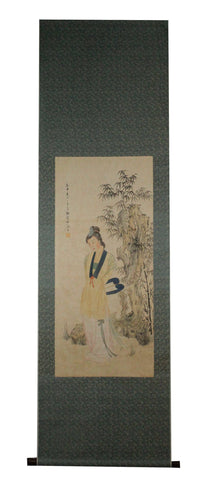 GA029 100% HAND PAINTED FIGURE CHINESE TRADITIONAL INK SCROLL PAINTING
