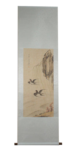GA035 100% HAND PAINTED FLOWERR BIRD CHINESE TRADITIONAL INK SCROLL PAINTING