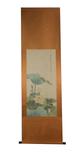 GA036 100% HAND PAINTED FLOWERR BIRD CHINESE TRADITIONAL INK SCROLL PAINTING