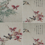 GA037 100% HAND PAINTED FLOWERR BIRD CHINESE TRADITIONAL INK SCROLL PAINTING