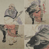 GA040 100% HAND PAINTED FIGURE CHINESE TRADITIONAL INK SCROLL PAINTING