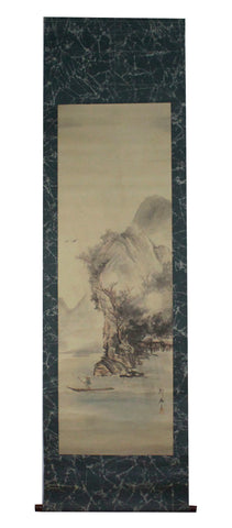 GA041 100% HAND PAINTED LANDSCAPE CHINESE TRADITIONAL INK SCROLL PAINTING