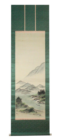 GA043 100% HAND PAINTED LANDSCAP CHINESE TRADITIONAL INK SCROLL PAINTING