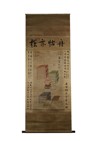 GA053 100% HAND PAINTED BOOK CHINESE TRADITIONAL  INK SCROLL PAINTING