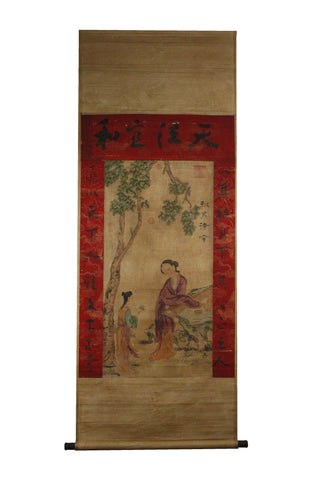 GA054 100% HAND PAINTED FIGURE CHINESE TRADITIONAL INK SCROLL PAINTING