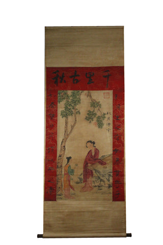 GA061 100% HAND PAINTED FIGURE CHINESE TRADITIONAL INK SCROLL PAINTING