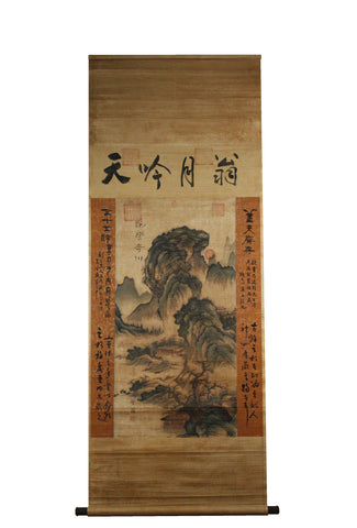 GA075 100% HAND PAINTED LANDSCAP CHINESE TRADITIONAL INK SCROLL PAINTING