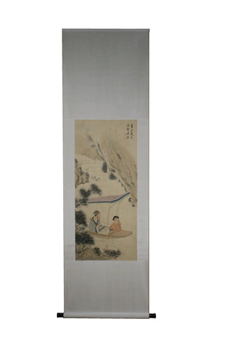 GA108 100% HAND PAINTED FIGURE CHINESE TRADITIONAL INK SCROLL PAINTING
