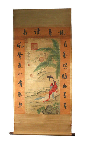 GA115 100% HAND PAINTED FIGURE CHINESE TRADITIONAL INK SCROLL PAINTING