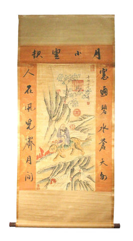 GA119 100% HAND PAINTED FIGURE CHINESE TRADITIONAL INK SCROLL PAINTING