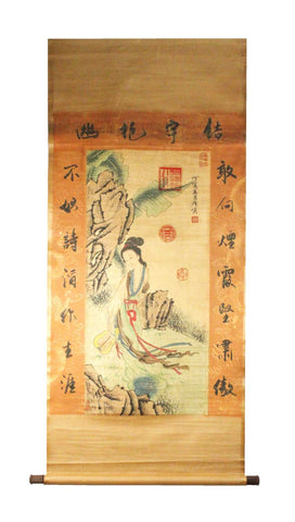 GA125 100% HAND PAINTED FIGURE CHINESE TRADITIONAL INK SCROLL PAINTING