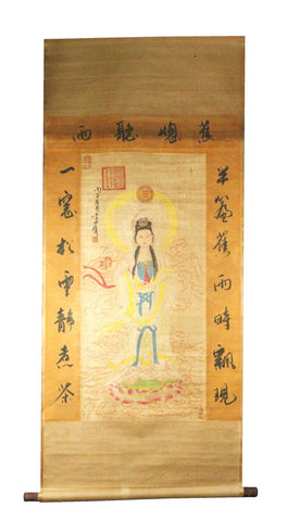 GA126 100% HAND PAINTED FIGURE CHINESE TRADITIONAL INK SCROLL PAINTING