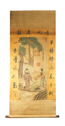 GA127 100% HAND PAINTED FIGURE CHINESE TRADITIONAL INK SCROLL PAINTING