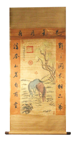 GA131 100% HAND PAINTED FLOWER BIRD CHINESE TRADITIONAL  INK SCROLL PAINTING