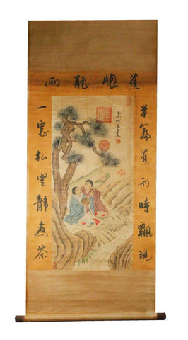 GA134 100% HAND PAINTED FIGURE CHINESE TRADITIONAL INK SCROLL PAINTING