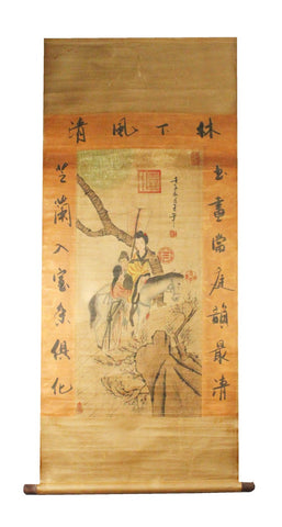 GA139 100% HAND PAINTED FIGURE CHINESE TRADITIONAL INK SCROLL PAINTING