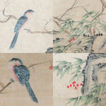 GA141 100% HAND PAINTED FLOWER BIRD CHINESE TRADITIONAL  INK SCROLL PAINTING