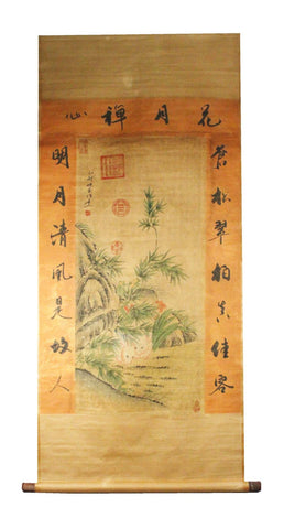 GA142 100% HAND PAINTED FLOWER BIRD CHINESE TRADITIONAL  INK SCROLL PAINTING