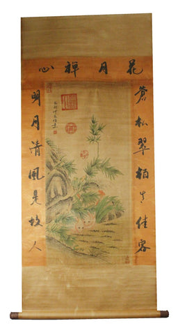 GA143 100% HAND PAINTED FLOWER BIRD CHINESE TRADITIONAL  INK SCROLL PAINTING