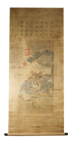 GA148 100% HAND PAINTED FIGURE CHINESE TRADITIONAL INK SCROLL PAINTING