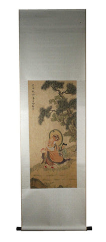 GA150 100% HAND PAINTED FIGURE CHINESE TRADITIONAL INK SCROLL PAINTING