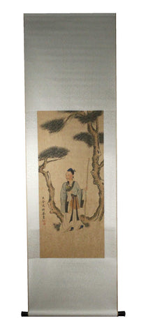 GA151 100% HAND PAINTED FIGURE CHINESE TRADITIONAL INK SCROLL PAINTING