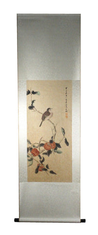 GA152 100% HAND PAINTED FLOWER BIRD CHINESE TRADITIONAL  INK SCROLL PAINTING