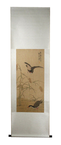 GA155 100% HAND PAINTED FLOWER BIRD CHINESE TRADITIONAL  INK SCROLL PAINTING