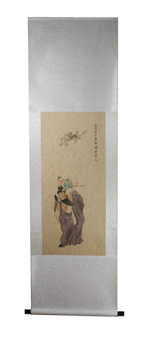 GA157 100% HAND PAINTED FIGURE CHINESE TRADITIONAL INK SCROLL PAINTING