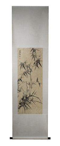 GA158 100% HAND PAINTED FLOWER BIRD CHINESE TRADITIONAL  INK SCROLL PAINTING