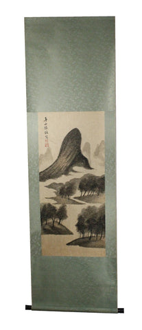 GA159 100% HAND PAINTED LANDSCAP CHINESE TRADITIONAL INK SCROLL PAINTING