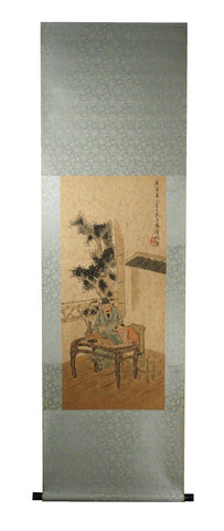 GA162 100% HAND PAINTED FIGURE CHINESE TRADITIONAL INK SCROLL PAINTING