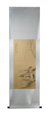 GA166 100% HAND PAINTED FIGURE CHINESE TRADITIONAL INK SCROLL PAINTING