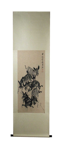 GA168 100% HAND PAINTED FLOWER BIRD CHINESE TRADITIONAL  INK SCROLL PAINTING