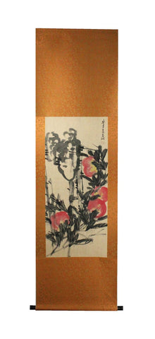 GA169 100% HAND PAINTED FLOWER BIRD CHINESE TRADITIONAL  INK SCROLL PAINTING
